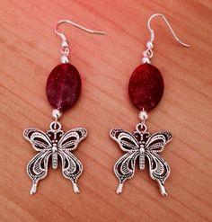 Butterfly Earrings by HeartfeltHemp on Etsy, $5.00