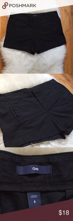 "Like New Gap Casual Shorts Worn only once, Gap ladies Canvas casual shorts, nice thicker cotton fabric with a 3"" inseam , has two front pockets and two back pockets. The perfect pair of casual yet classy shorts. Women's size 8 or 29 and true to size. No flaws! GAP Shorts"