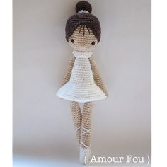 Paloma the Ballerina Crochet Pattern by Amour by AmourFouCrochet