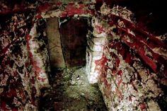 Una cámara del tamaño de una caja de cerillos bajó cinco metros para descubrir vasijas, paredes pintadas con figuras y piezas de jade y concha. Palenque,ultimos descubrimientos..... Paredes pintadas de rojo,11 vasijas y nueve figuras humanas delineadas en negro-