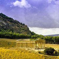 Ejemplo dórico en Segesta, Sicilia