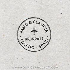 sello pequeño para boda viaje