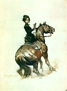 Woman on a horse, by Franzetta.
