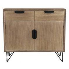 Mueble aparador Volendam 2 cajones y 2 puertas madera marrón