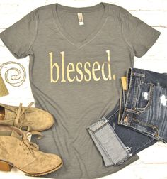 Blessed., Mommy tee, Mom Tops, Faith, Mom tee, Women's tees, Women's t-shirts, Religious Tee, IVF Gift, Christmas Gift for Mom, Faith by Little17Shop on Etsy https://www.etsy.com/listing/482248288/blessed-mommy-tee-mom-tops-faith-mom-tee
