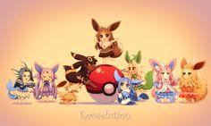 human version gijinka pokemon, eeveelutions, vaporeon, espeon, zapdos, umbreon, eevee, glaceon, leafeon, sylveon, flareon