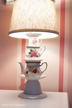 Great tea cup lamp tutorial