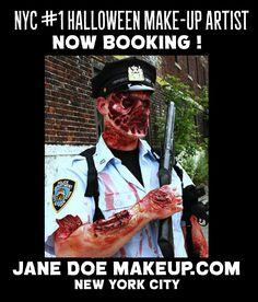 Halloween Makeup Artist NYC - Jane Doe Makeup - Now booking for halloween in manhattan !