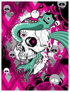 Brian Ewing + Buff Monster. #buffmonster http://www.widewalls.ch/artist/buff-monster/