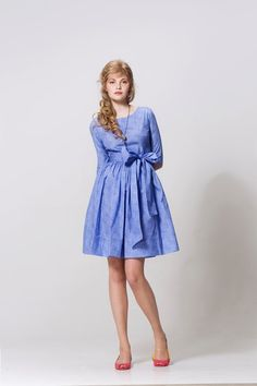 Sky Blue Summer Garden Party Dress by Mrs Pomeranz