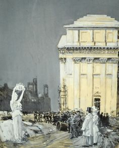 Childe Hassam World's Fair – Chicago x European Paintings, World's Fair, 19th Century, Louvre, Chicago, Art, Art Background, Kunst, Performing Arts