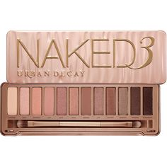 Urban Decay Naked3 (72 CAD) ❤ liked on Polyvore featuring beauty products, makeup, eye makeup, eyeshadow, beauty, fillers, cosmetics, metallic eyeshadow, pencil eyeliner and glitter eye shadow