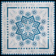 """Blue Plate Special"" by Susan Stewart of Pittsburg, Kan., is winner of the $5,000 Superior Threads Master Award for Innovative Artistry at the 2015 International Quilt Festival Houston."