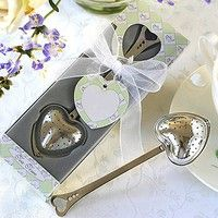 Wish | Hot Heart Design Spoon Tea Infuser Filter Wedding Souvenir Bridal Shower Favor Gift (Size: One Size)
