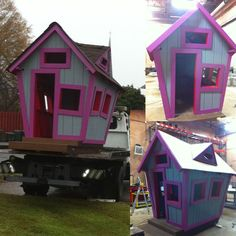 Playhouse plans with construction process     complete set of plans   construction progress + comments   complete material list + tool list   DIY building cost $450   FREE shipping  FREE sample plans  of one of our design