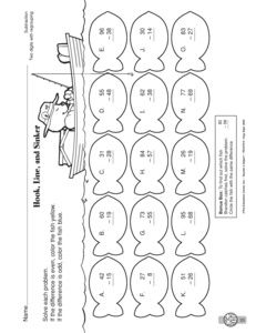 Math Worksheet: adding two-digit numbers without