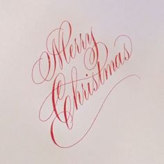 Let the Christmas festivities begin!  . #calligraphy #calligraphymasters #merrychristmas #christmas #holiday #festivities #family #food #copperplate #flourish #flourishforum #winsorandnewton #red #johnnealbookseller #paperandinkarts #iampeth #letterworks