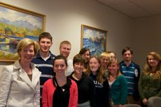 Tammy with students at Lawrence University