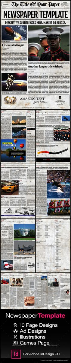 Old Style Newspaper Template - Newsletters Print Templates