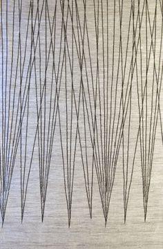 """Play of Lines"": Dora Jung Finnish weaver textiles Textile Patterns, Textile Prints, Textile Design, Print Patterns, Textile Art, Claude Monet, Illustrations, Graphic Illustration, Graphic Prints"