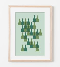 Trees of Lake Tahoe Print.   #modern #iconic #nature #wall #art