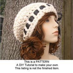 7ceb6e6f5f5c1 Crochet Hat Womens Hat Escargot Beret in Cream by pixiebell