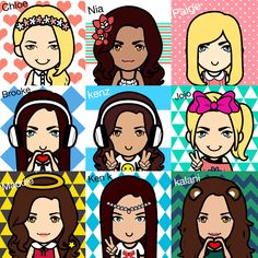 Cartoon dance moms girls made by Alicia Royle