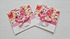 Vintage virágos esküvői meghívó pink szalaggal díszítve - vintage flowers wedding invitations Pink, Gifts, Vintage, Presents, Favors, Vintage Comics, Pink Hair, Roses, Gift