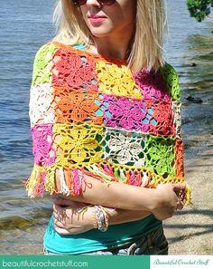 Crochet Summer Poncho By Jane - Free Crochet Pattern - (beautifulcrochetstuff)