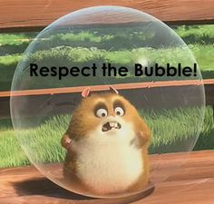 "Visual reminder for kids to respect personal space/""bubble"""
