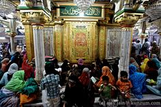 The grave of Sufi saint and mystic Hazrat Nizamuddin Auliya in New Delhi. Nizamuddin himself was buried in a simple grave in the centre of the courtyard – he wanted it this way. But over time his devotees added their bits to show their love to what is now an ornate structure. The third Mughal emperor Jalaluddin Mohammad Akbar added the dome while his son Shahjahan added the arches. Read more in Ajay Jain's book, 'Delhi 101.' For more on the book and to order, visit…