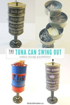 Tuna Can Swing Out Storage Tower   Birdz of a Feather