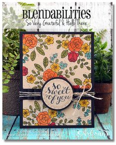 Love the bold colors from Stampin' Blendabilities