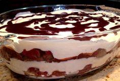 Feketeerdő rakott piskóta Czech Recipes, My Recipes, Sweet Recipes, Cookie Recipes, Dessert Recipes, Favorite Recipes, Hungarian Recipes, Russian Recipes, Desserts In A Glass