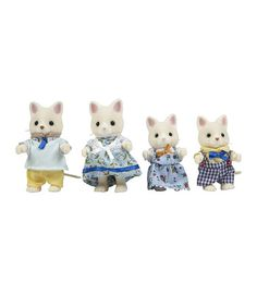 This Silk Cat Family Set by Calico Critter is perfect! #zulilyfinds