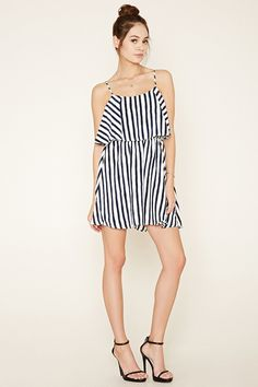 Striped Flounce Dress
