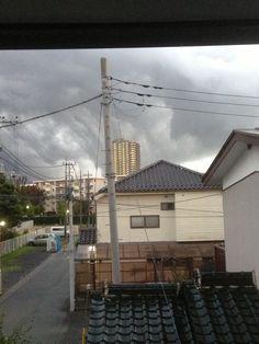 Storm clouds up ahead in Okegawa-shi.