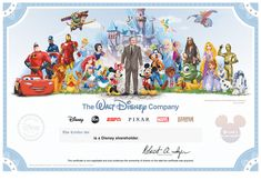 Celebrate Your Shareholder Status with New Disney Stock Certificate | Disney Insider