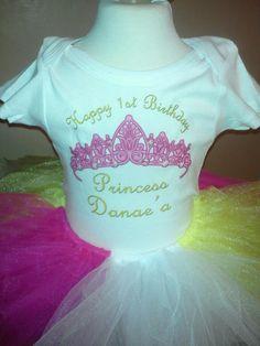 personalized princess tutu outfit (shirt)
