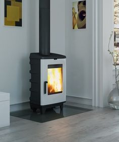 Dovre Brut Stove White Enamel Finish | Dovre Brut White Wood burning Stove