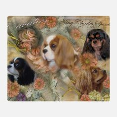 Cavalier King Charles Spaniel Throw Blanket for