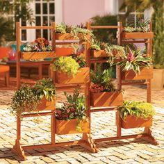This unique outdoor planter lets you grow plants and herbs and maintain your privacy at the same time. One-of-a-kind eucalyptus planter has 5 individual planting boxes of varying depths for filling with lush perennials, climbing flowers, or tasty herbs. Each planter box comes with its own PVC liner to keep dirt neatly contained. Can be used indoors or out and you can even create a privacy fence by placing 2 or more planter boxes side by side.