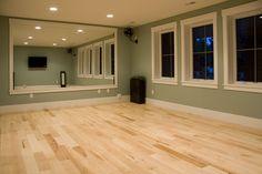 Nice light hardwood for a workout room. Beautiful variation.
