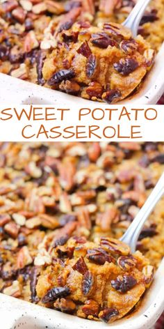This sweet potato casserole with pecan topping is the perfect holiday side dish. This sweet potato casserole with pecan topping is the perfect holiday side dish. Sweet Potato Toppings, Sweet Potato Casserole, Sweet Potato Recipes, Beer Recipes, Side Dish Recipes, Easy Recipes, Recipies, Dinner Recipes, Healthy Recipes
