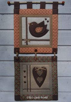 Ulla's Quilt World: Wall hanging quilt, Heart and bird
