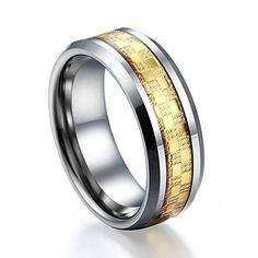 Caperci-8mm Tungsten Men`s Ring