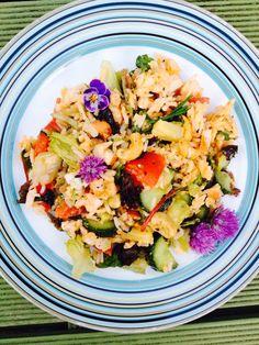 Zomerse rijstsalade