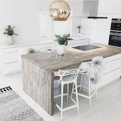 If you are one of the people who love rustic also want to change your kitchen style then this article is for you!Take a look at this 15 Ideas of stunning rustic kitchen design. Rustic Apartment Decor, Apartment Kitchen, Home Decor Kitchen, Apartment Design, Kitchen Ideas, Rustic Kitchen Island, Rustic Kitchen Design, Interior Design Kitchen, Kitchen Designs