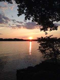 Tiogue Lake, Coventry, RI from our property, beautiful sunset!!!
