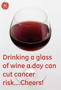 """""""Drinking a glass of wine a day can cut cancer risk""""........if this is true I'm gonna keep it going ;)"""